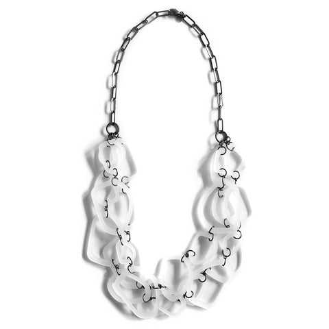 Silvercocoon POD BUNCH24 Long Necklace – Ice