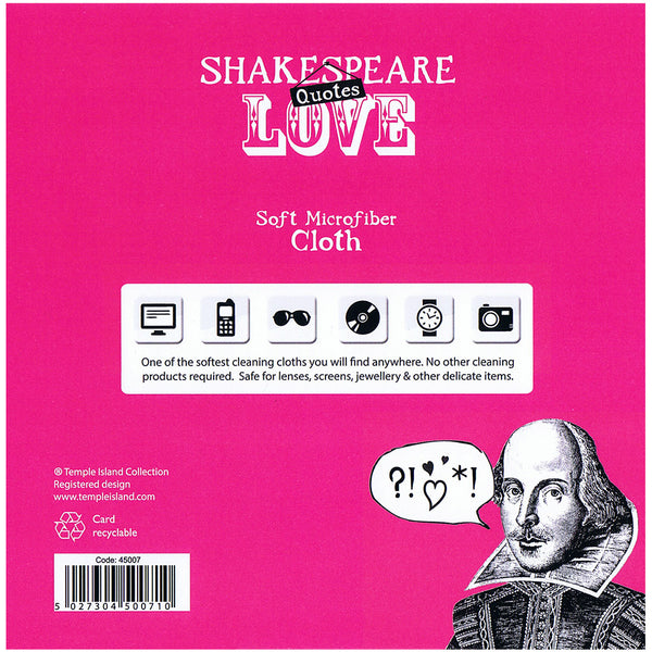 Shakespeare Quotes Love Soft Microfiber Cloth