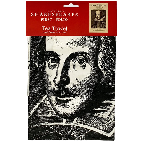 Shakespeare's First Folio Tea Towel