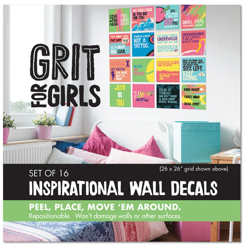 Grit for Girls Wall Decal Set
