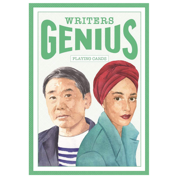 Writers Genius Playing Cards