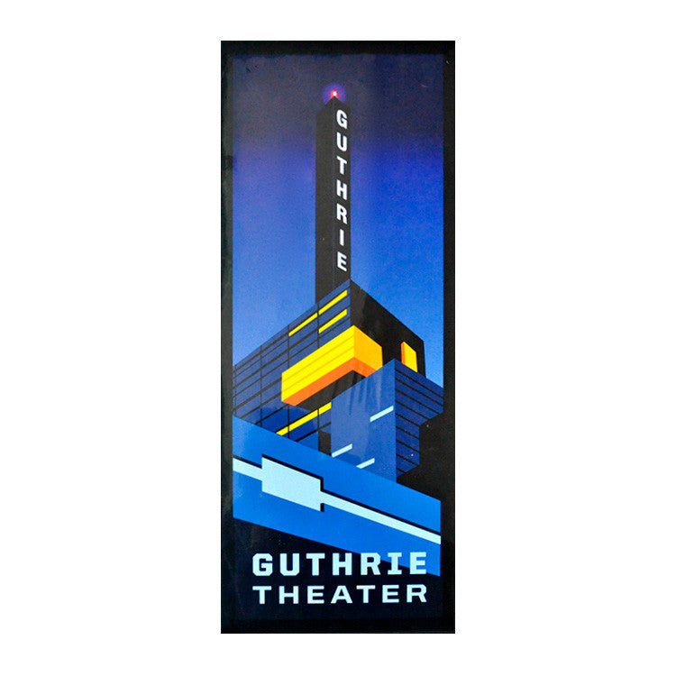 "Guthrie LED Towers 7.5"" x 20"" Print"