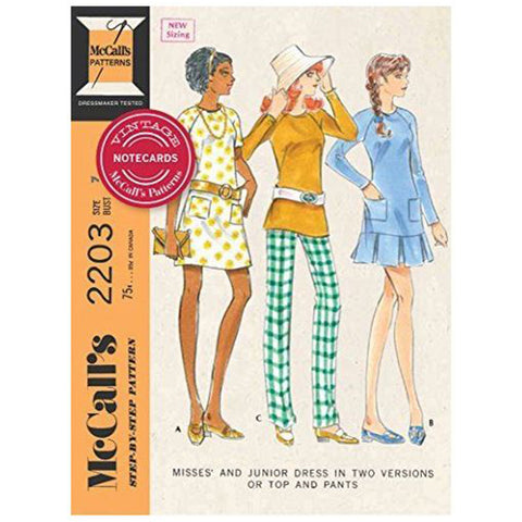 Vintage McCall's Patterns Notecard Set