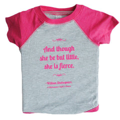 "Shakespeare ""And though she be but little, she is fierce"" Onesie - Baby"