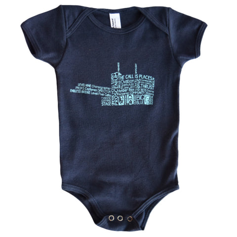 Guthrie Words Onesie Navy - Baby
