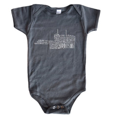 Guthrie Words Onesie Asphalt - Baby