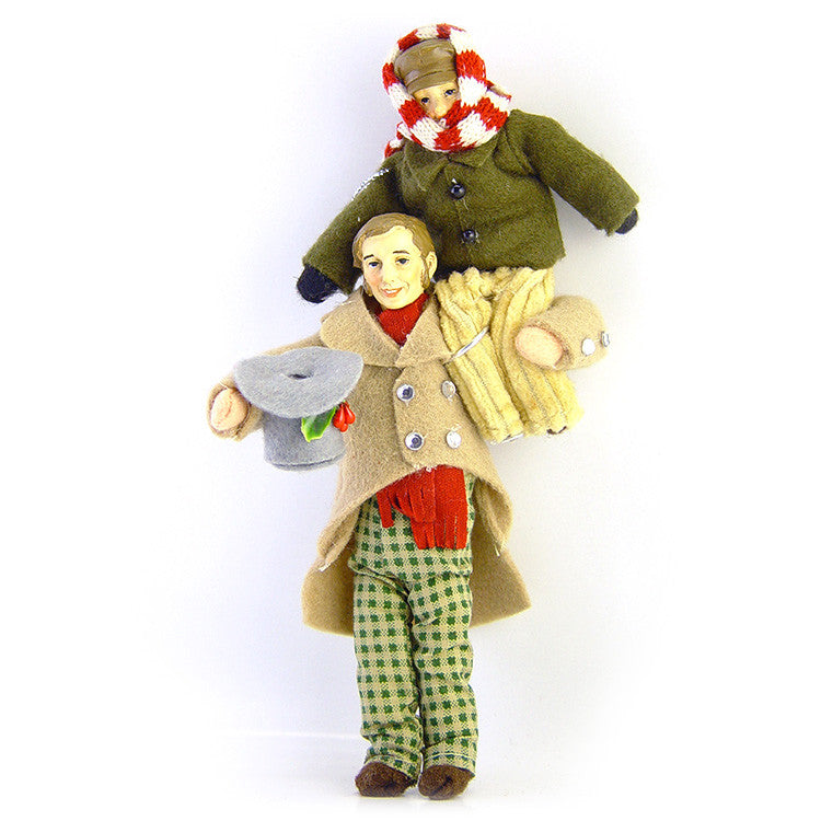 A Christmas Carol Ornament - Bob Cratchit with Tiny Tim