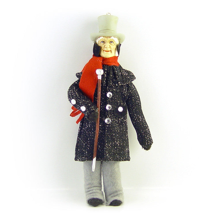 A Christmas Carol Ornament - Scrooge with Top Hat