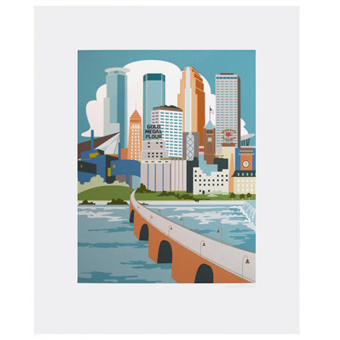 Cindy Lindgren Minneapolis River View Print