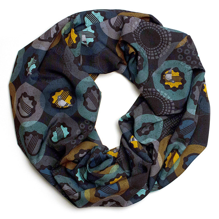 Pigeons and Tambourines Small Loop Scarf
