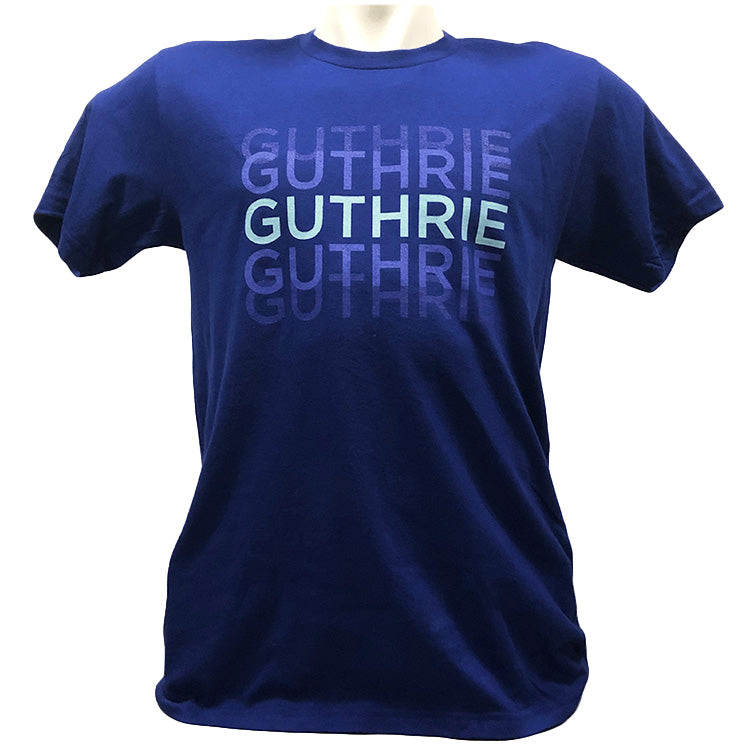 Guthrie Triprint Short Sleeve T-shirt Lapis - Adult