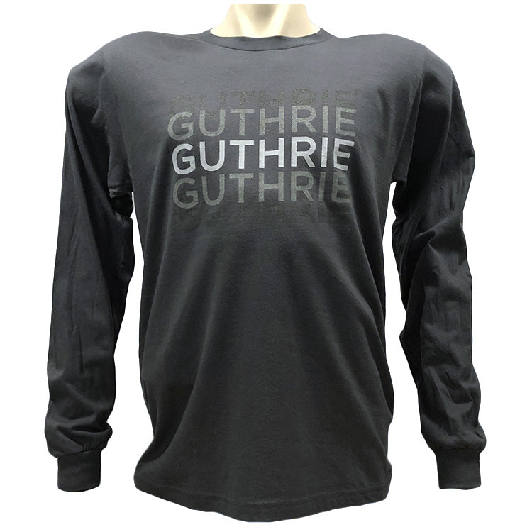 Guthrie Triprint Long Sleeve T-shirt Asphalt- Adult