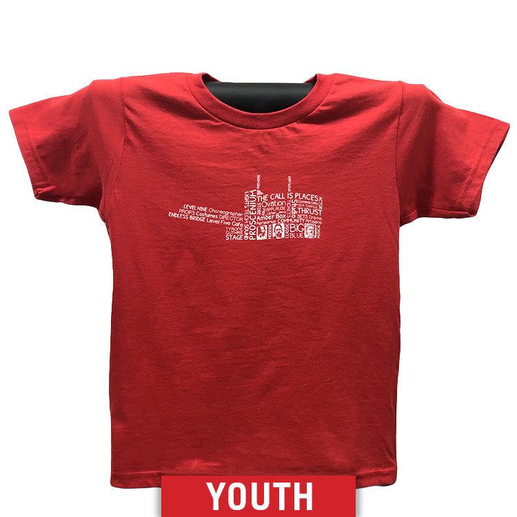 Guthrie Words Short Sleeve T-shirt Red - Youth