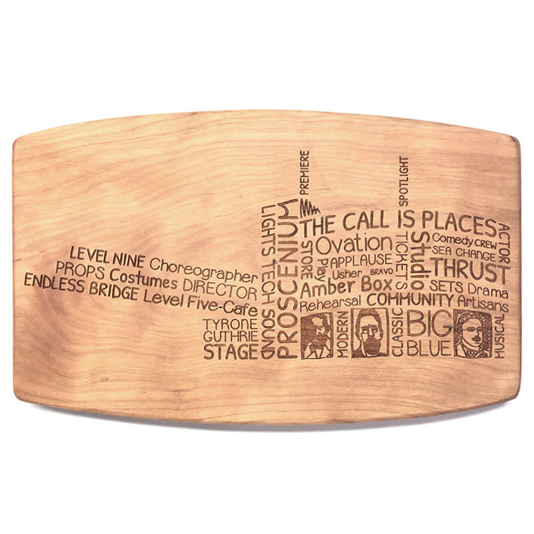 Guthrie Words Wood Cheese Board