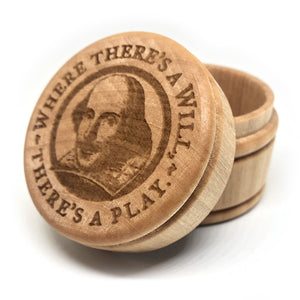 "Shakespeare ""Where There's a Will, There's a Play"" Wood Box"