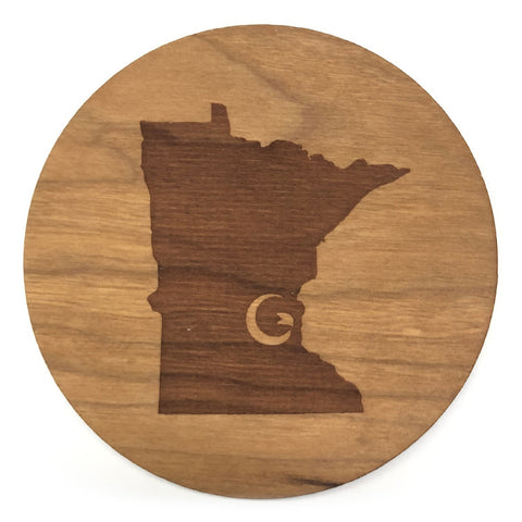 "Minnesota ""G"" Wood Coaster"