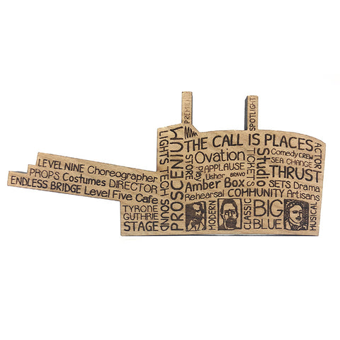 Guthrie Words Wood Magnet