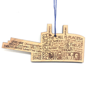 Guthrie Words Wood Ornament