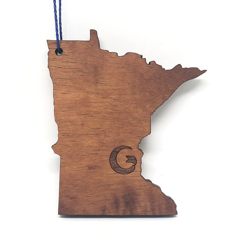 "Minnesota ""G"" Wood Ornament"