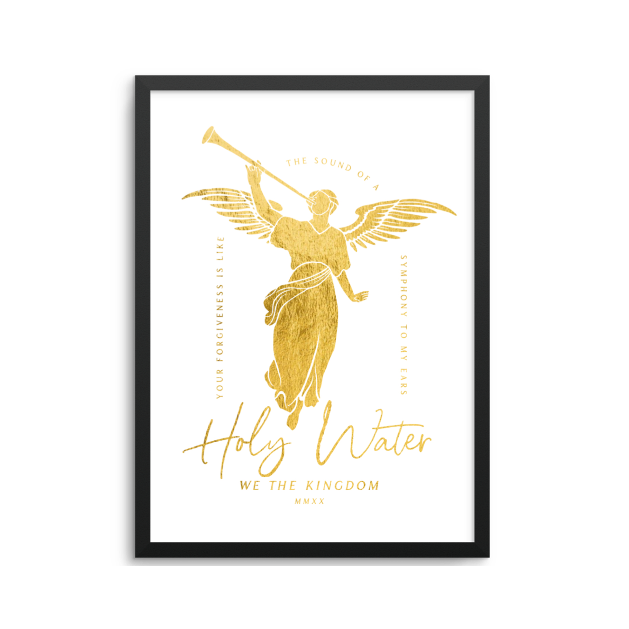 GOLD HOLY WATER - 8x10 PRINT
