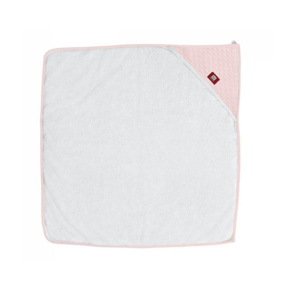 Hooded Towel - White & Chalk Pink