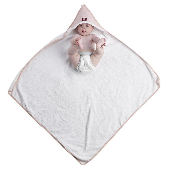 Hooded Towel - White and Pink (2)