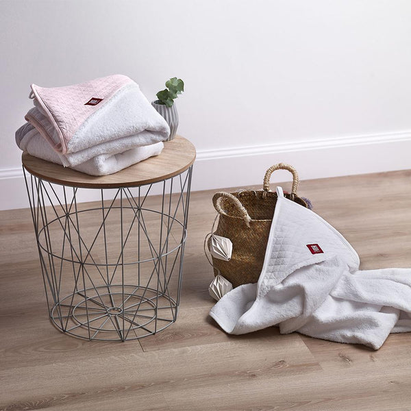 Hooded Towel - White & Chalk Pink (4)