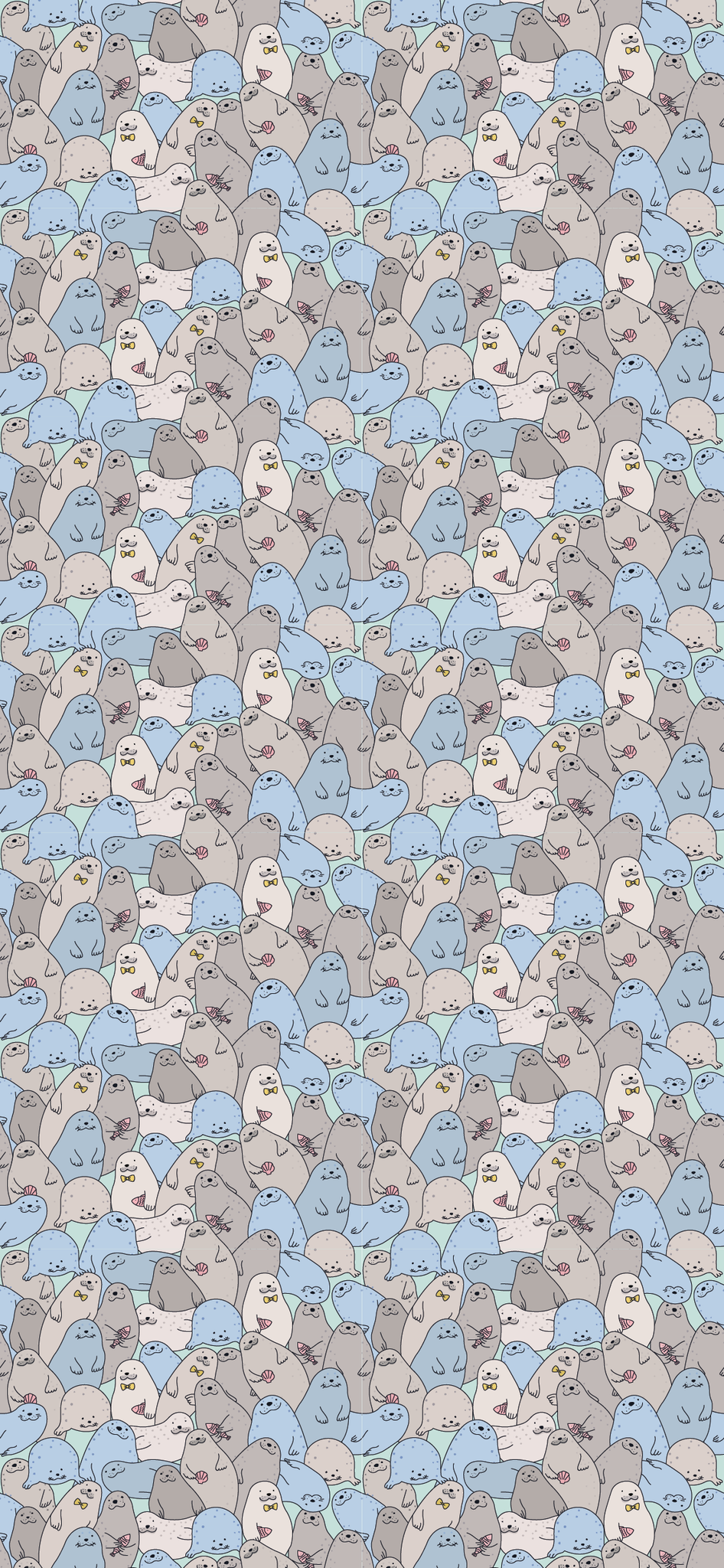 Seals Wallpaper by Dr Woof Apparel