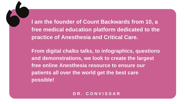 Quote from Dr. David Convissar of Count Backwards From 10