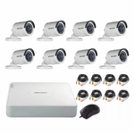 KIT DVR HD 8CH HIKVISION DS-J142I/7108HGHI-F1/N+ - Soundata S.A.