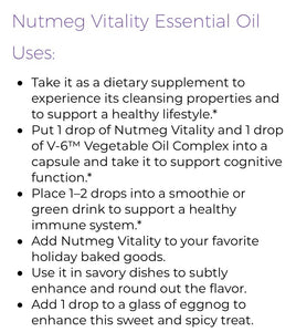Young Living NUTMEG Vitality Oil 5ml