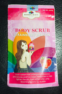 Blooming Beauty Body Scrub Strawberry Arbutin 200g