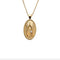 Jane Winchester Lucky Oval Wishbone Pendant Necklace