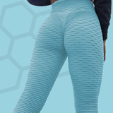 Legging anti-cellulite push-up bleu ciel