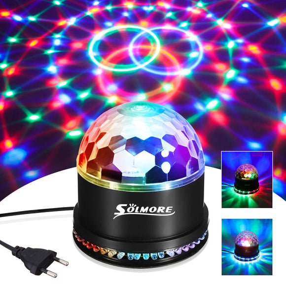 Disco Lights SOLMORE 51 LEDs Party Stage 12W RGB Disco Ball Light Sound Unique Sequential Flashing Effect for Kids Festival Birthday Party Bar