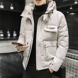 2020 New Winter Men Parka Big Pockets Casual Jacket Hooded Solid Color 5 colors Thicken And Warm hooded Outwear Coat Size 5XL