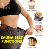 LANFEI Neoprene Sweat Waist Trainer Belt Women Weight Lose Body Shaper Sauna Slimming Strap Tummy Control Fat Burn Girdle Corset