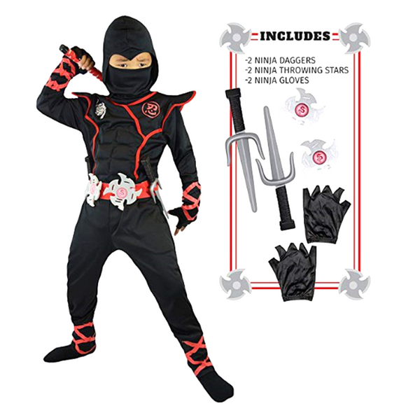 Ninja Costume Child Ninjago Party Costumes Boys Girls Halloween Fancy Dress Superhero Cosplay Ninja Suit Kids Clothes Set Gift