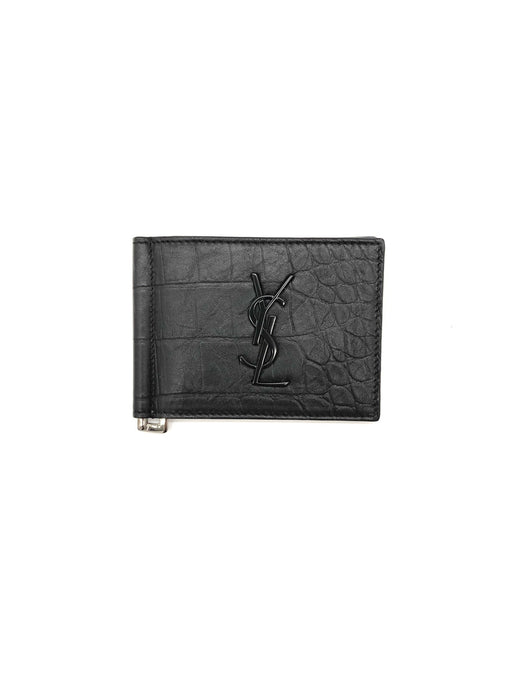 Yves Saint Laurent Monogram Bifold Wallet with Money Clip