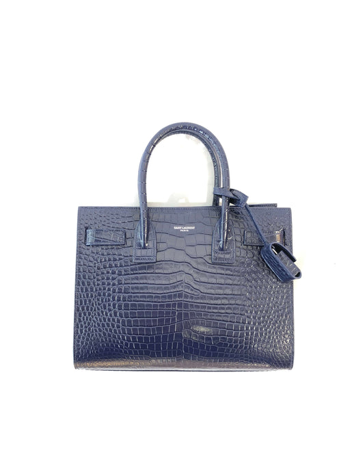 Yves Saint Laurent Small Sac de Jour Tote (Marine Blue)