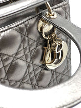 Load image into Gallery viewer, Lady Dior Black Gold Calfskin Bag