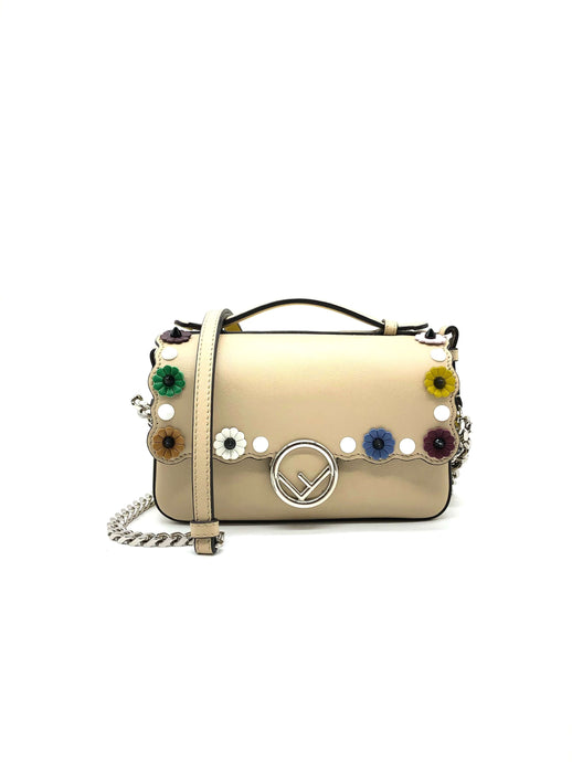 Fendi Beige/Yellow Double Micro Baguette Bag