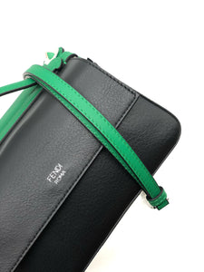 Fendi Green/Black Double Micro Baguette Bag