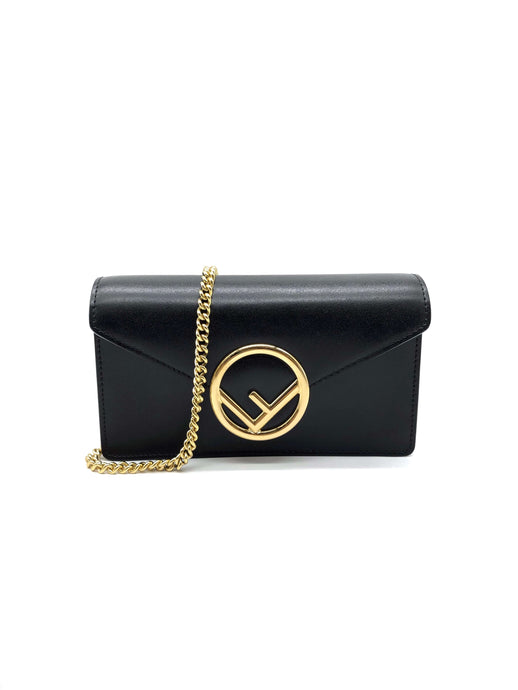 Fendi Black Logo Leather Belt Bag