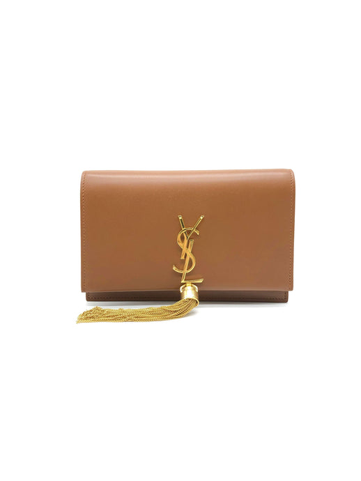 Yves Saint Laurent Brown Kate Tassel Bag