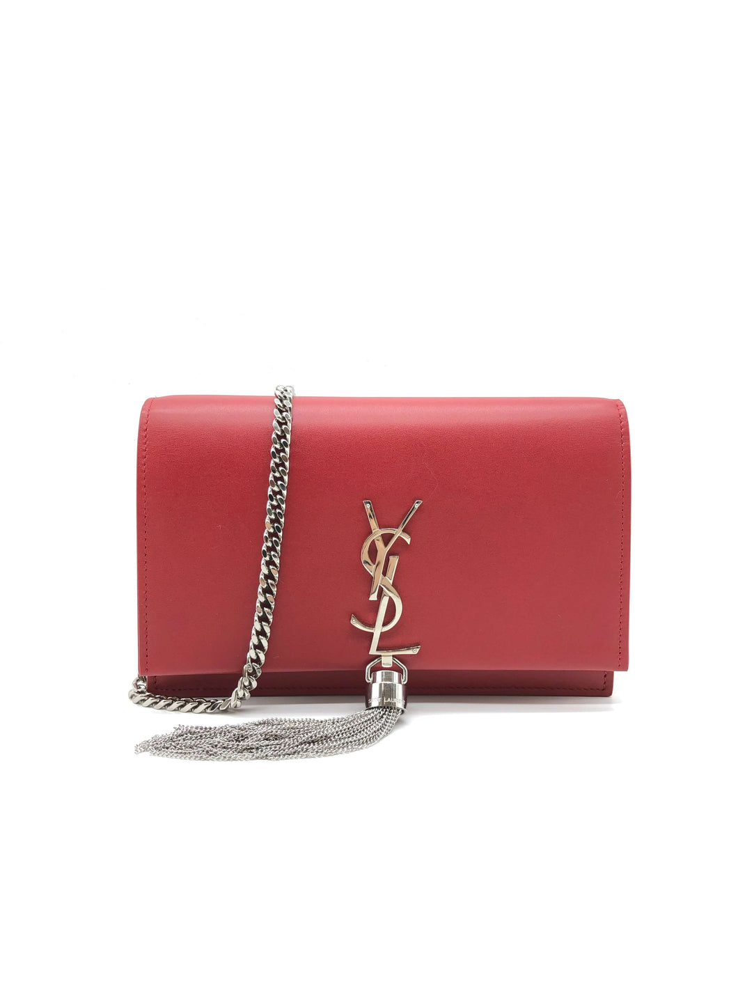 Yves Saint Laurent Red Kate Tassel Bag