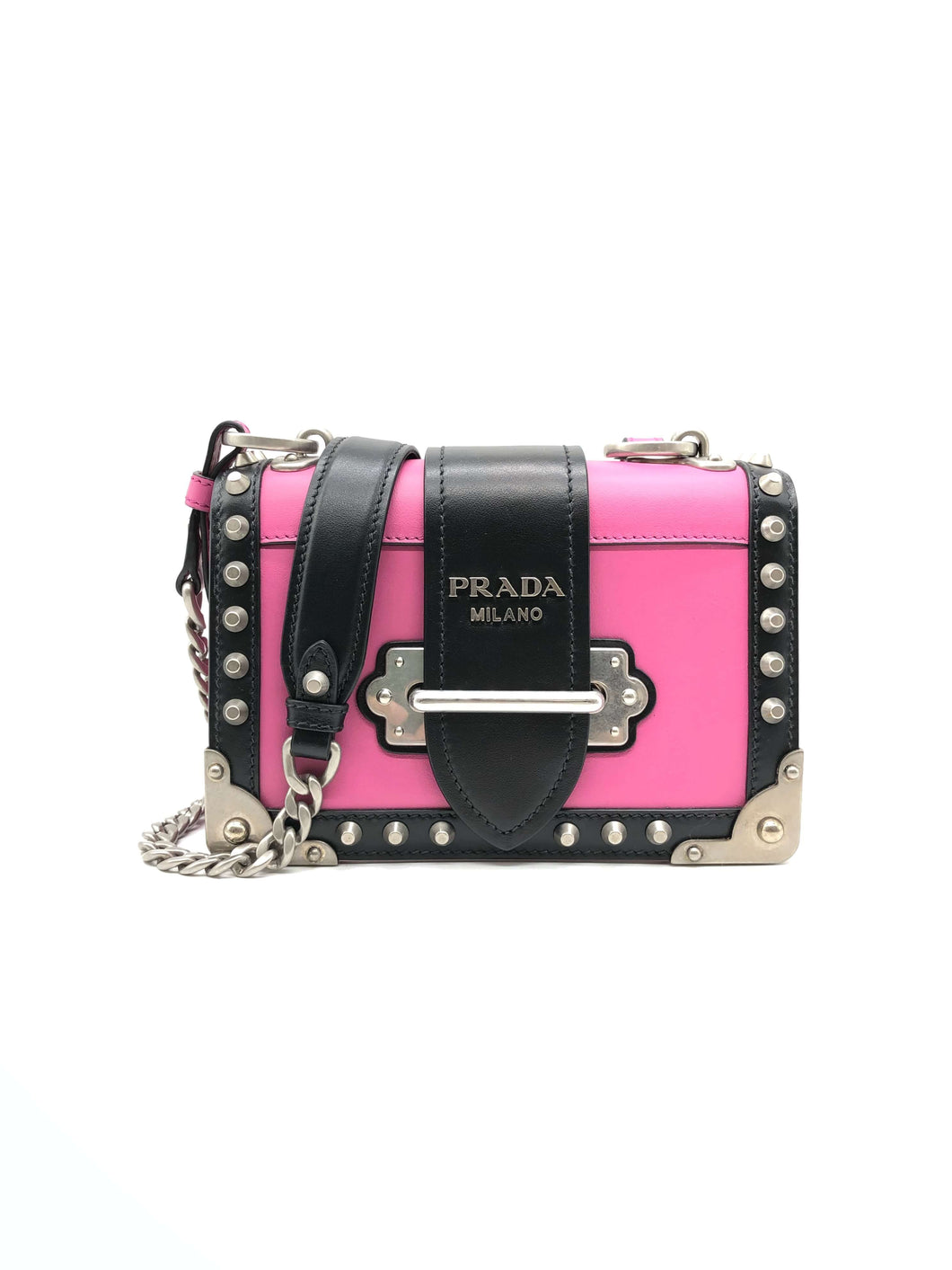 Prada Leather Cahier Crossbody Bag
