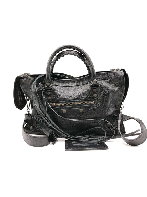 Balenciaga Black Classic City Small Shoulder Bag