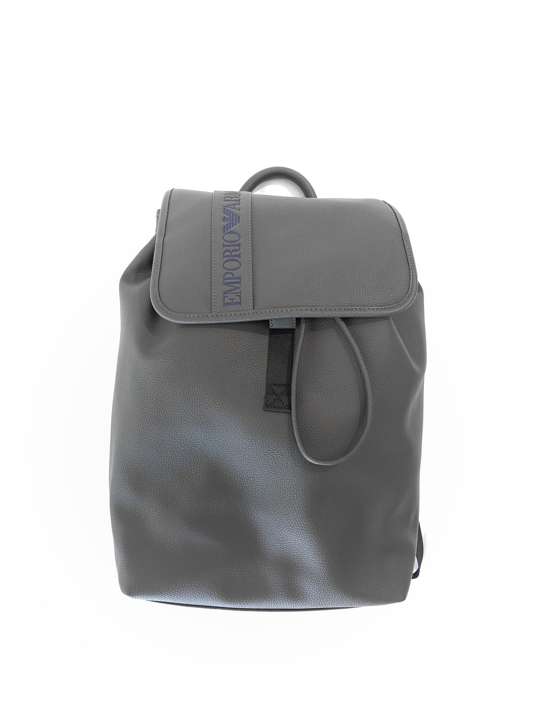 Emporio Armani Logo Embossed Backpack Grey