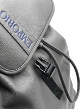 Load image into Gallery viewer, Emporio Armani Logo Embossed Backpack Grey